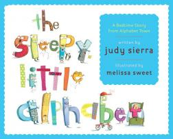 The Sleepy Little Alphabet book cover featuring the title made out of letters with faces.