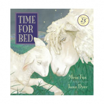 Time For Bed cover with  picture of sheep and lamb